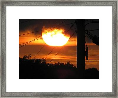 Sunset Framed Print by Lindie Racz