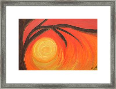 Sunset Framed Print by Lola Connelly