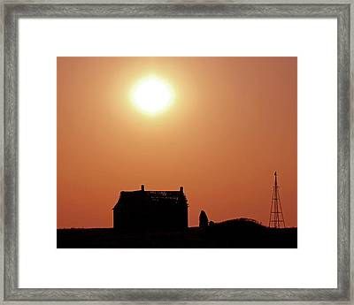 Sunset Lonely Framed Print by Christopher McKenzie