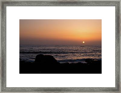 Framed Print featuring the photograph Sunset by Lora Lee Chapman