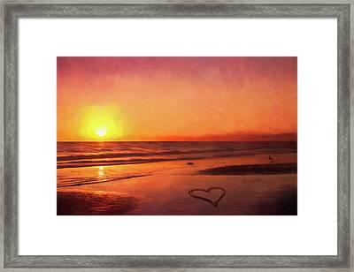 Sunset Love Framed Print