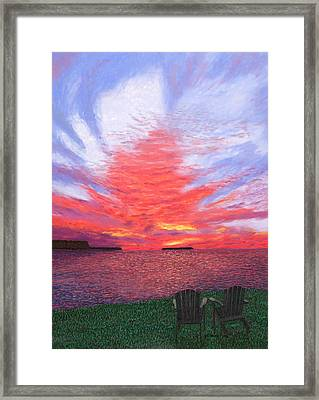 Sunset Lovers Framed Print
