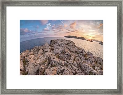 Sunset Malgrats Island Wide Angle Framed Print