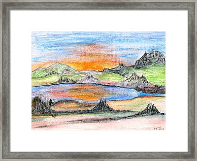Sunset Framed Print by Margie  Byrne