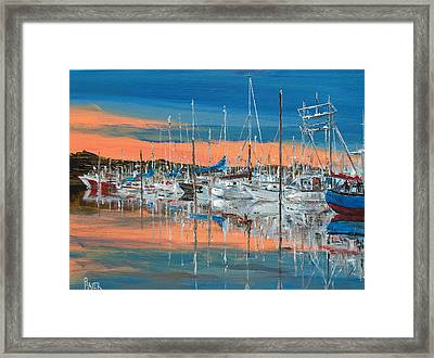 Sunset Marina Framed Print by Pete Maier