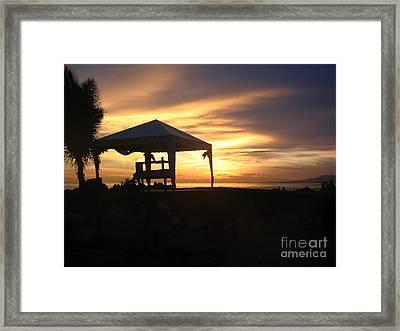 Sunset Massage Framed Print