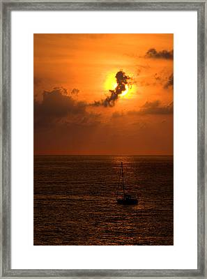 Sunset Mexico Framed Print by Xavier Cardell