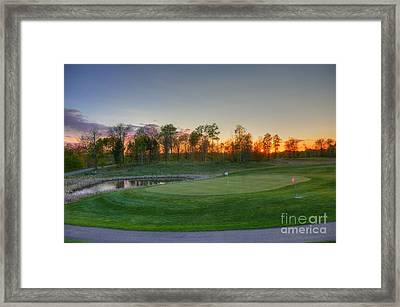 Sunset Minnesota National Golf Course Championship Course 2 Framed Print by Wayne Moran