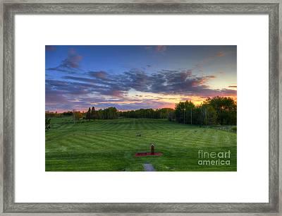 Sunset Minnesota National Golf Course Championship Course Framed Print by Wayne Moran