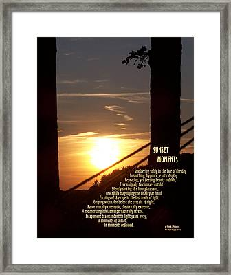 Sunset Moments IIi Framed Print by Patrick J Maloney