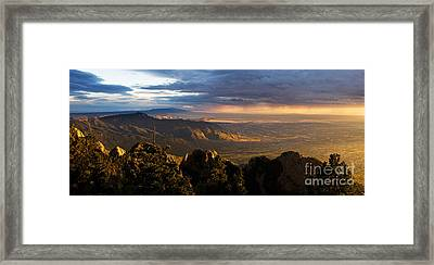 Sunset Monsoon Over Albuquerque Framed Print