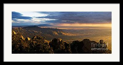 Sandia Mountains Framed Prints