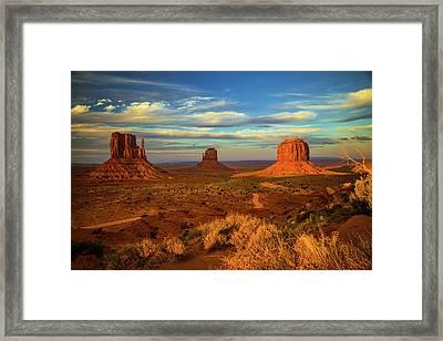 Sunset - Monument Valley Framed Print