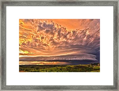 Sunset Mothership Framed Print