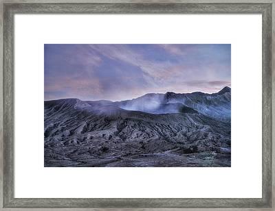 sunset Mount Bromo - Java Framed Print