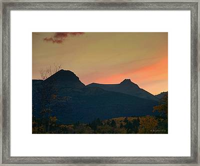 Sunset Mountain Silhouette Framed Print