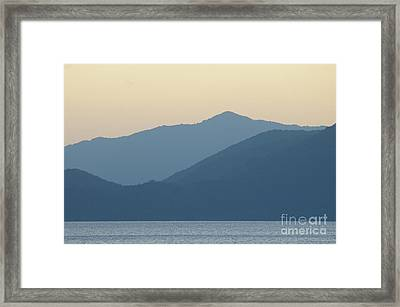 Sunset Mountain Symphony Framed Print by Catja Pafort