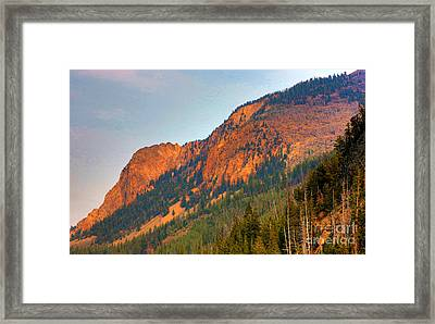 Framed Print featuring the photograph Sunset Mountains by Robert Pearson