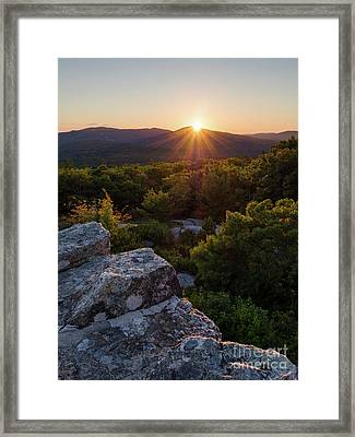 Sunset, Mt. Battie, Camden, Maine 33788-33791 Framed Print
