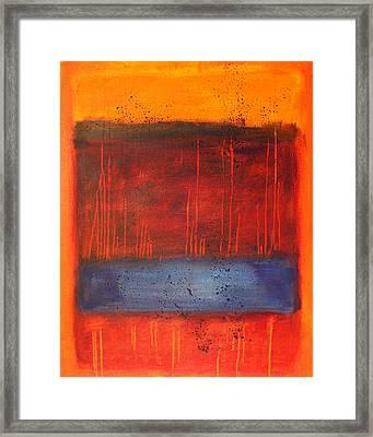 Sunset Framed Print by Nancy Merkle