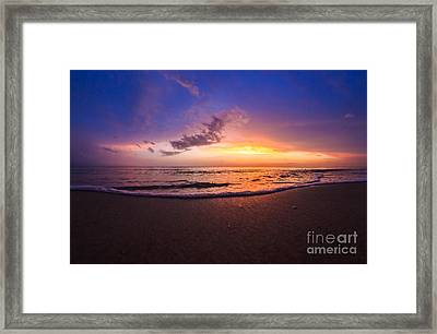 Sunset Naples Beach Florida Framed Print