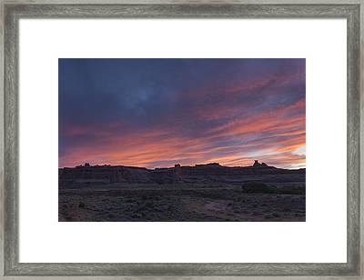 Sunset Near Court House Wash Framed Print