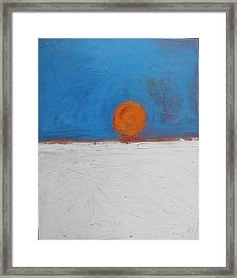 Sunset No. 11 Oil On Board 16 X 20 2008 Framed Print by Radoslaw Zipper
