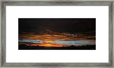 Sunset Northern Cape Framed Print