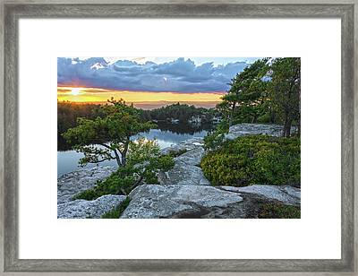 Sunset Of Contentment Framed Print