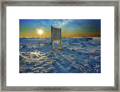 Sunset Of Frozen Dreams Framed Print by Kathi Mirto
