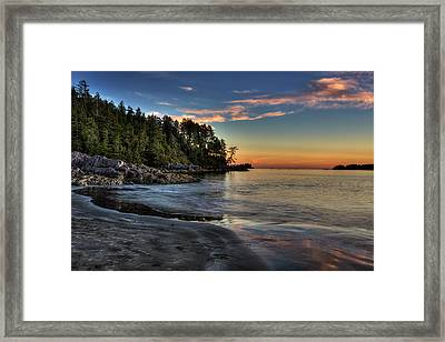 Sunset Of Seclusion Framed Print
