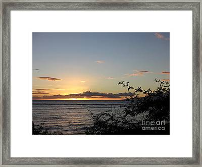 Sunset Off Lipoa Framed Print