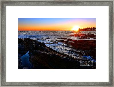 Sunset Off Pemaquid Point Framed Print