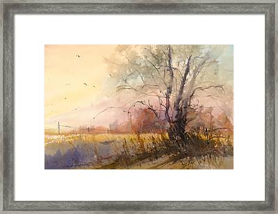 Sunset On 108th Framed Print by Sandra Strohschein