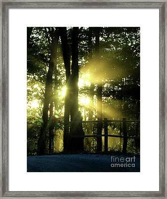 Sunset On An Old Gravel Road  Framed Print