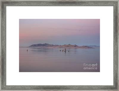 Sunset On Antelope Island Framed Print