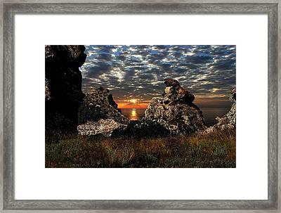 Sunset On Azov Framed Print