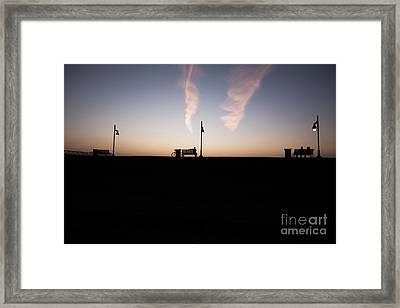 Sunset On Baton Rouge Levee Framed Print
