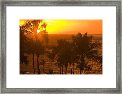 Sunset On Beach, Wailea, Hawaii Framed Print by Stuart Westmorland