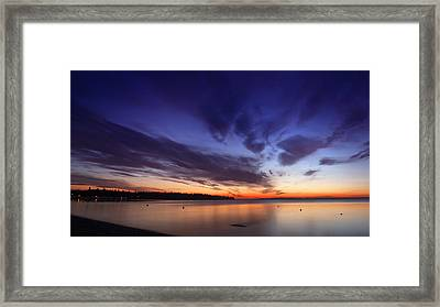 Sunset On Birch Bay 3 Framed Print by Julius Reque