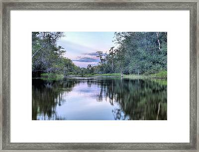 Sunset On Bubbling Creek. Framed Print by JC Findley