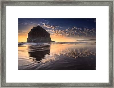 Sunset On Cannon Beach Framed Print by Rick Berk