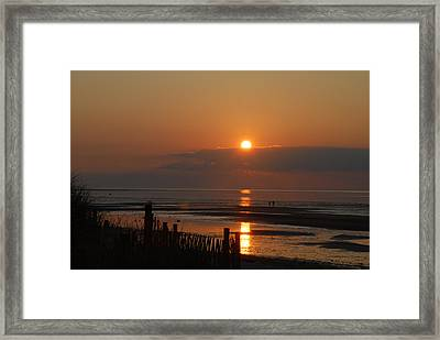 Framed Print featuring the photograph Sunset On Cape Cod by Alana Ranney