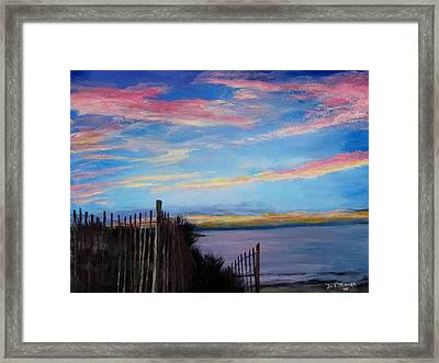 Sunset On Cape Cod Bay Framed Print by Jack Skinner