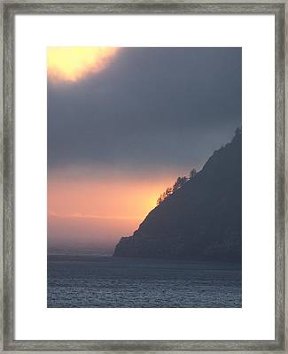 Sunset On Cape Lookout Framed Print