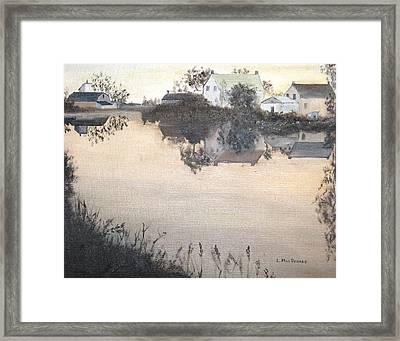 sunset On Consecon Framed Print by L A Raven