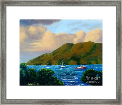 Sunset On Cruz Bay Framed Print