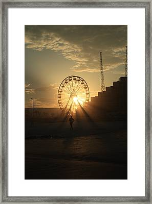 Sunset On Daytona Beach Framed Print