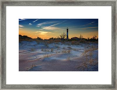 Sunset On Fire Island Framed Print by Rick Berk