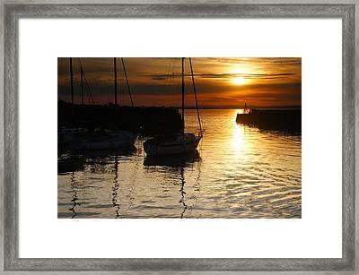 Sunset On Fisherrow Framed Print by Nik Watt